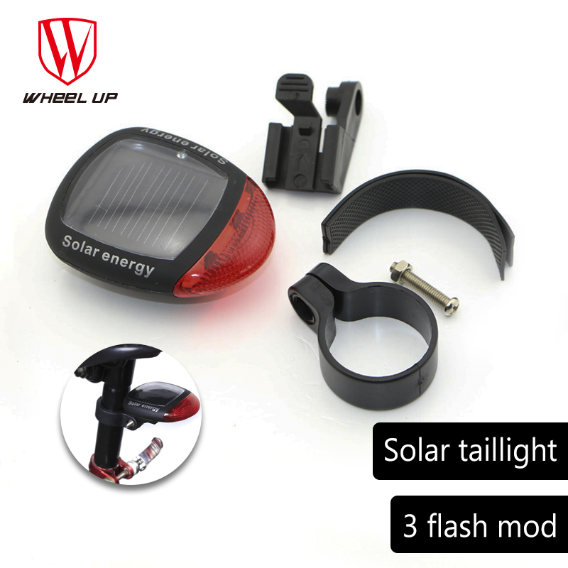 Solar energy bicycle rear light red led seatpost tail lights MTB mountain bike taillights rechargeable lamp cycling new 2018 hot|Bicycle Light| |  - title=