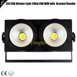 Oświetlenie sceniczne 200 w 2w1 ciepłe zimne światło umyć 3200 k/6500 k audytorium Blinder oświetlenie sceniczne 200 watt z uchwytem uchwyt