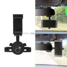 Universal 360 Degree Car Rearview Mirror Mount Holder Stand Cradle For Cell Phone GPS New Z09