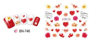 Image 4 - 12 упак./лот переводка NAIL ART наклейки для ногтей на День святого Валентина Свадебный поцелуй сердце губы, с цветочным принтом «розы» со стразами BN745 756