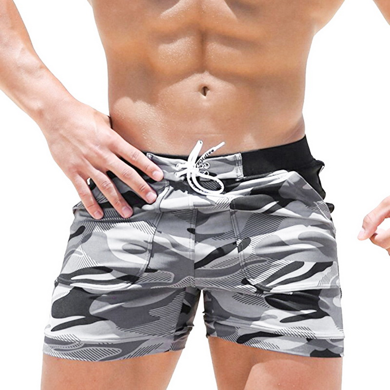 Oeak Casual Shorts Pocket Quick-Dry Men's Running Camouflage Beach Fashion New with Slim-Fit
