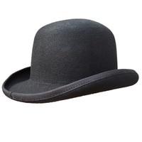 Black Women Men Wool Felt Derby Bowler Fedora Hats