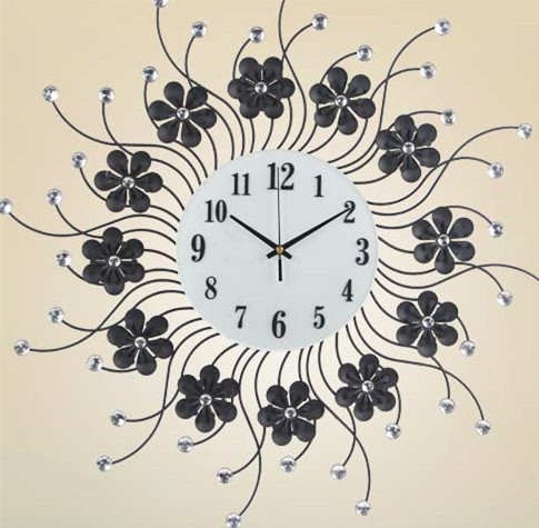 Fashion Creative Living Room Wall Clock, The Bedroom, Wrought Iron Art Deco,  Clock, Large Clock Of Silence In Wall Clocks From Home U0026 Garden On ...