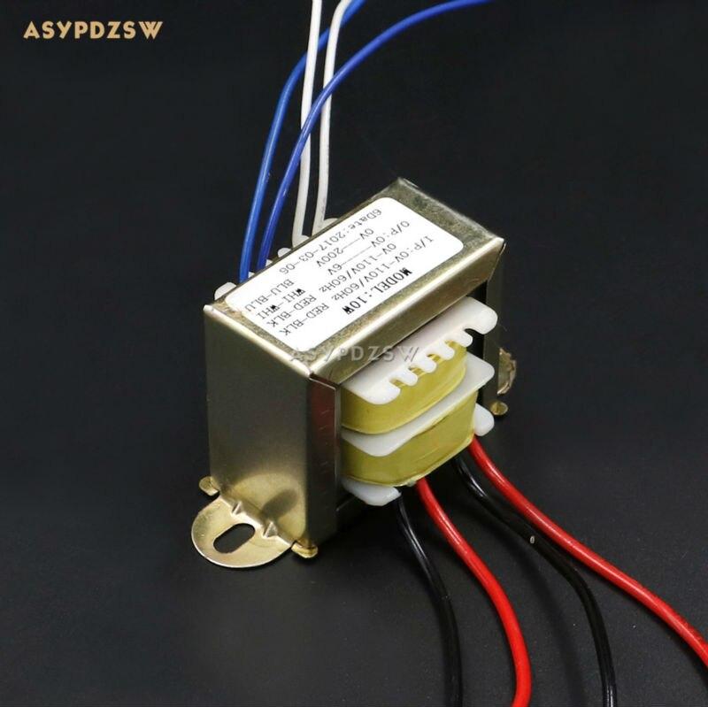 10W Tube Preamplifier EI Transformer 10VA MINI Preamp transformer 2*110V to 0-6V 1A 0-200V 20mA