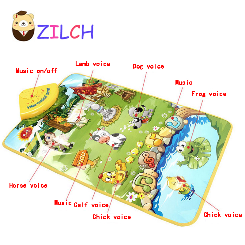 Happy Farm Music Carpet Mat Exercise Baby Crawling Walking Hearing Vision Touching Early Learning Funy Kids Toy Happy Farm baby touch farm