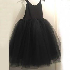 Image 3 - Dorosły romantyczny baletowa spódniczka Tutu próba spódnica do ćwiczeń łabędź kostium dla kobiet długi tiul sukienka biały różowy czarny kolor balet nosić