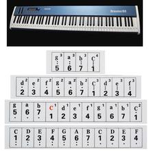 0.1mm Thickness Transparent Piano Keyboard Sticker 66/88 Key Electronic Keyboard 88 Key Piano Stave Note Sticker