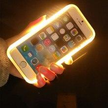 2016 Newest Self-luminous Case for iPhone 5/5s,6/6s,6/6s Plus LED Light Selfie Phone Case Luminous Phone Cover Fundas Capa Para