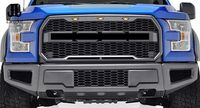 FOR 2015 2017 FORD F150 FRONT HONEYCOMB MESH RAPTOR STYLE GRILL W/ LED LIGHT