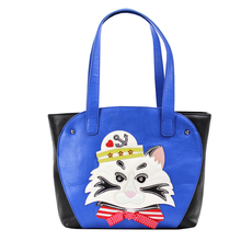 29x29CM Italian 2016 Summer New Fashion Creative Stitching Process Pirate Cat Personality Shoulder Female Bag A2664~3