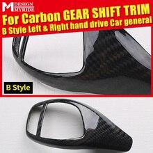 Left & Right hand drive Carbon Gear Shift Knob Cover Car Interior B-Style For BMW E90 E30 F35 E92 E93 318i 320i 325i 328d 330e