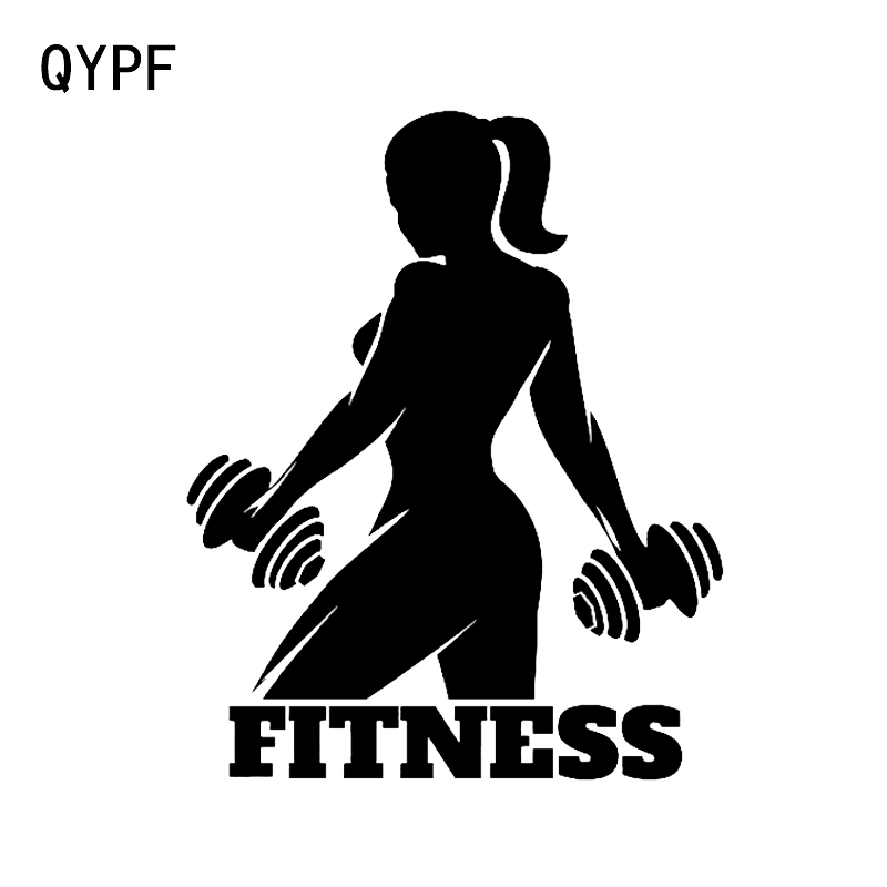 QYPF 12.9*16.1CM Funny FITNESS Decor Car Sticker Vinyl High Quality Accessories Silhouette C16-0870