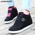Zapatos de Cuña Escondida Zapatos de Tacón Invisibles de las mujeres Mujeres Zapatos Casuales de Cuero de Alta Superior Transpirable Plataforma Chaussure Femme ZJ130