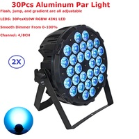 2 Pack Aluminum Alloy LED Par 30X10W RGBW 4IN1 LED Par Cans Dj Disco Lighting Projector Good For Indoor Entertainments Occasions