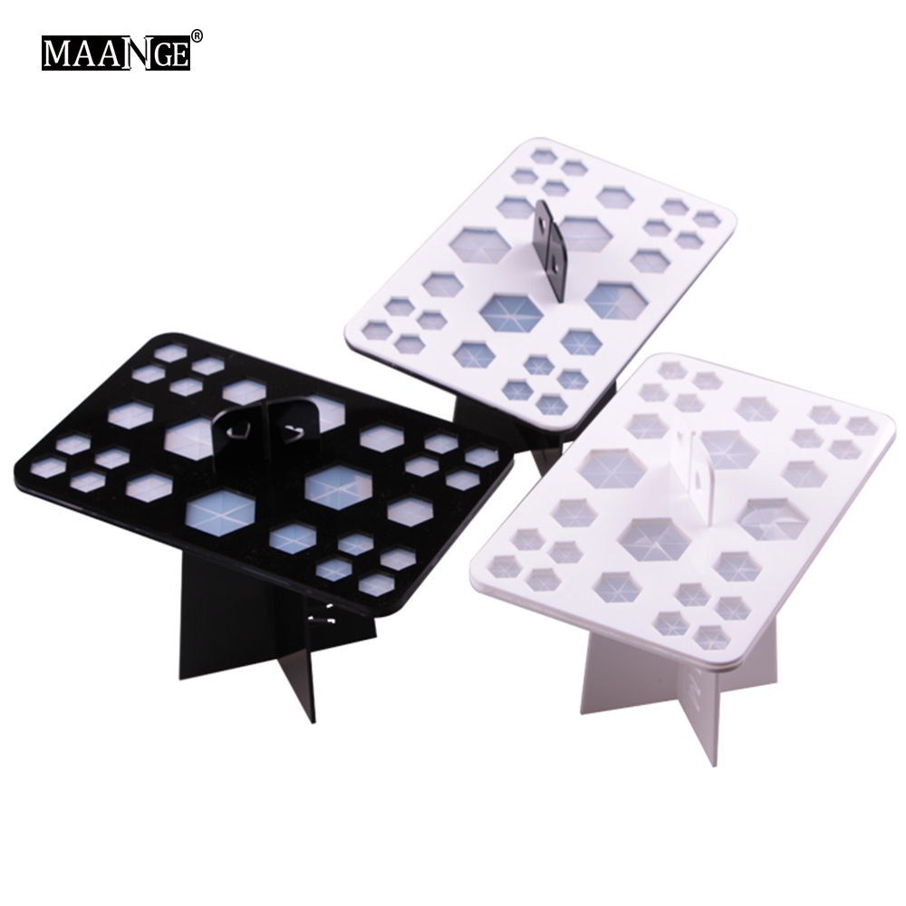 MAANGE Make Up Brush Set Dry Rack Drying Brushes Shelf Multifunction Stand Display Cosmetic Clean Tool Wash Makeup Brush Holder