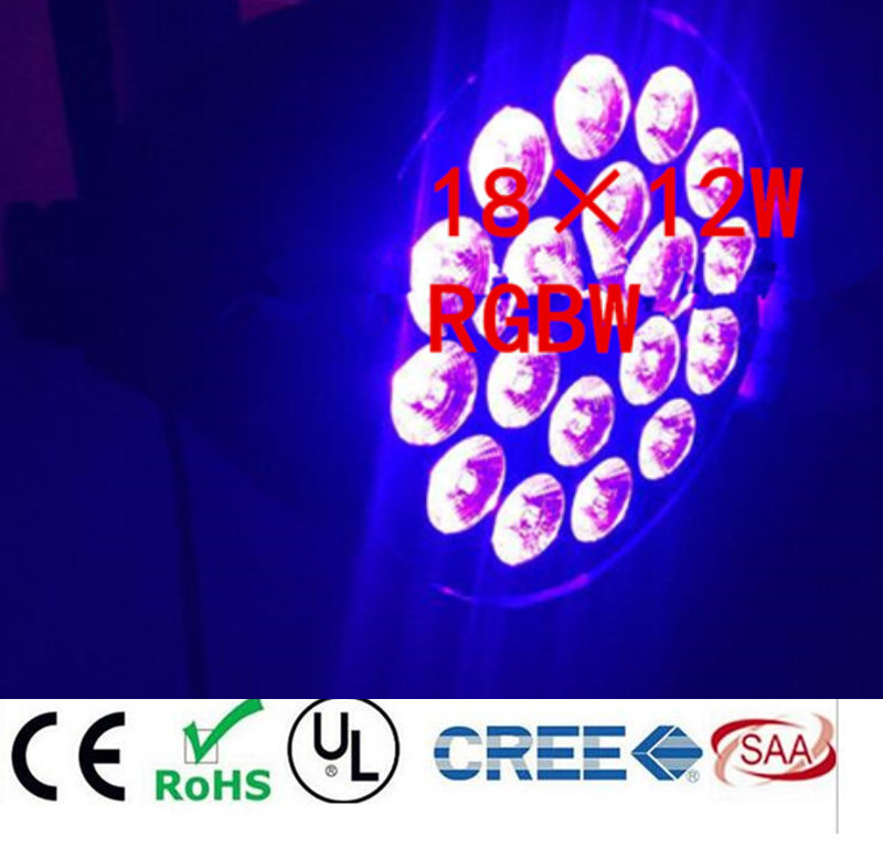 18x12W RGBW 4in1 Led Par Light DMX Stage Lights Business Lights Professional Flat Par Can for Party KTV Disco lamp 4pcs/lot 6 pcs lot led par 18x12w rgbw light dmx stage lights business lights professional flat par can for party ktv disco dj ligthing