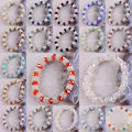 "Free Shipping Fashion Jewelry 5X8MM Mixed Faceted Beads Stretch Crystal Bracelet 7"" H986-1003"