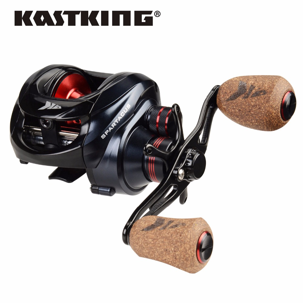 KastKing Spartacus Plus 8KG Max Drag Power Dual Brake System Baitcasting Fishing Reel Soft Handle 12