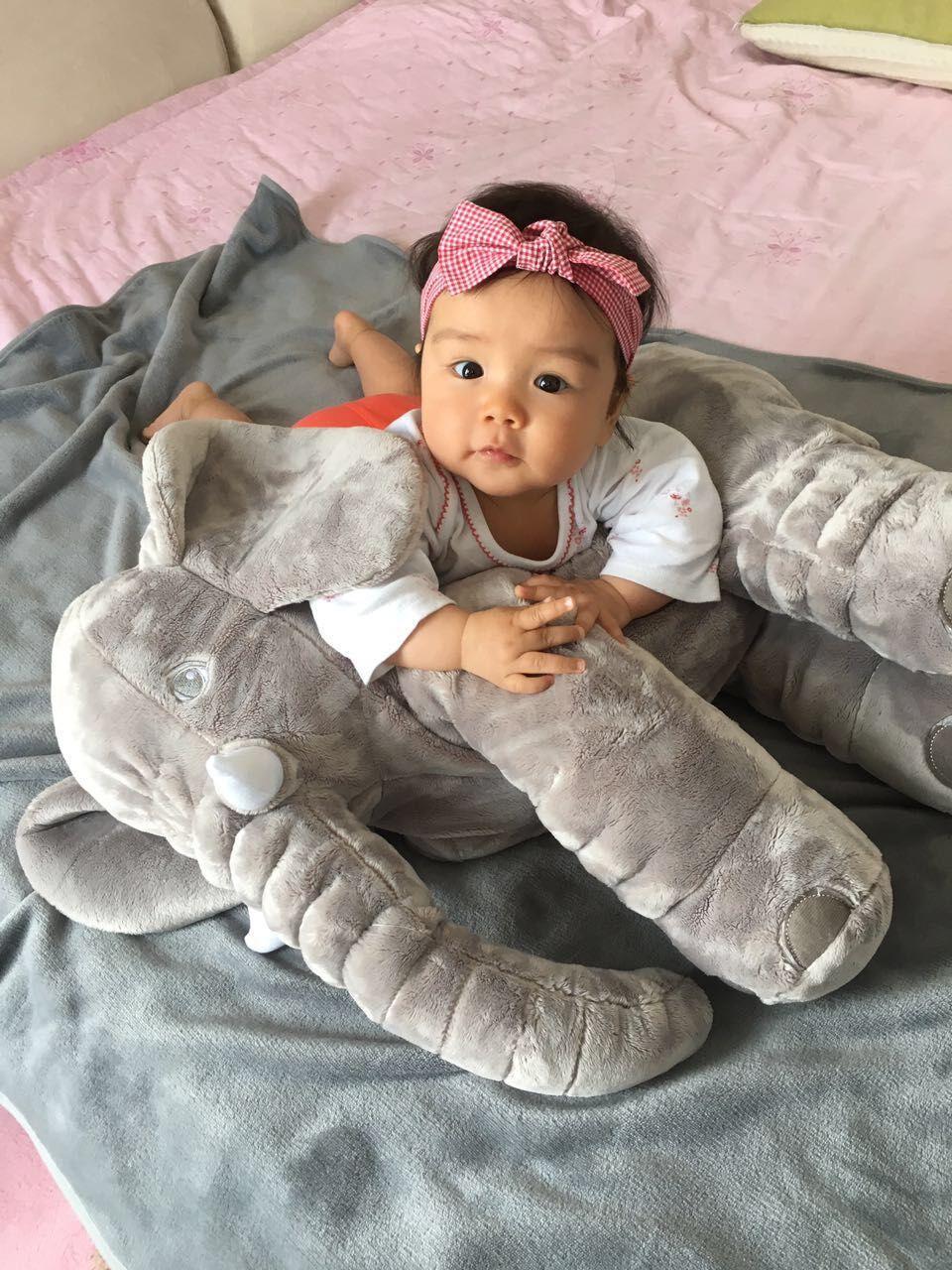 Baby Elephant Pillow Animals Toys No Blanket Soft Plush
