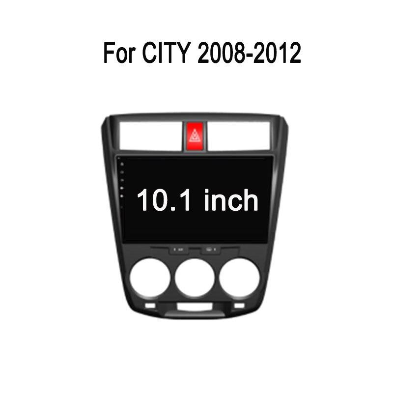 Octa Core Android 7.1 Fit HONDA CITY 2008 2009 - 2012 2013 Manual A/C RHD Car DVD Player Navigation GPS Radi10.1