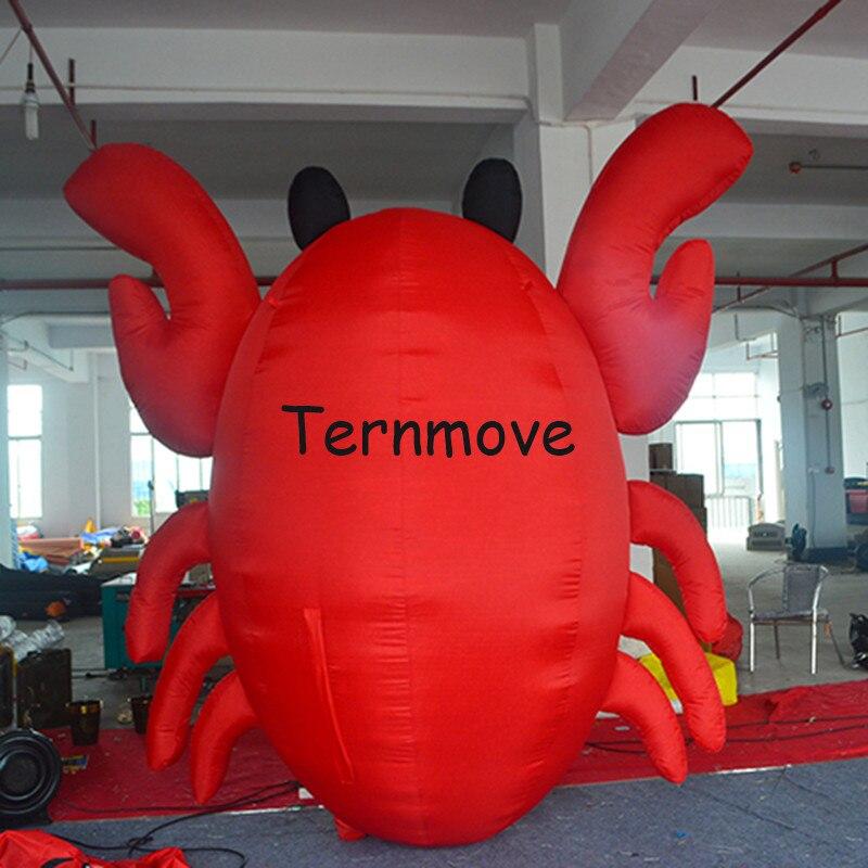 Réplique gonflable de crabes pour la publicité, répliques gonflables de poissons écrevisses crevettes homard modèle mascotte de thème océan extérieur