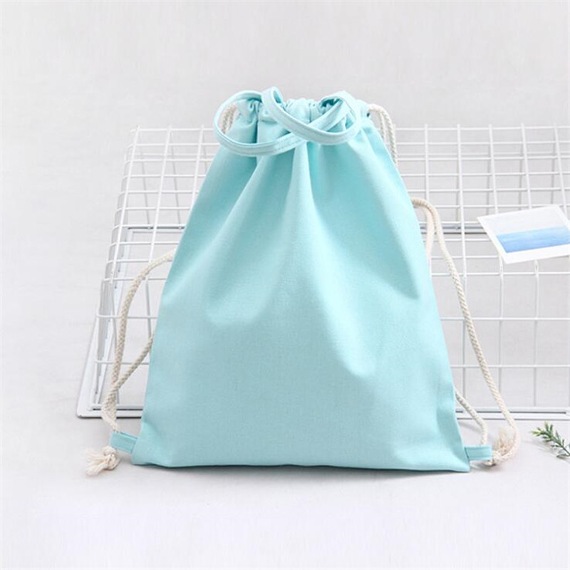 Drawstring Bags Fashion Multifunctional Backpack Women Girls Shoulder Bag Canvas Beach Bag Small Mini Travel Bag