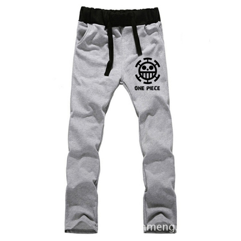 Anime One Piece Trafalgar Law LOVERS pure cotton pants casual trousers cosplay gift BY0078