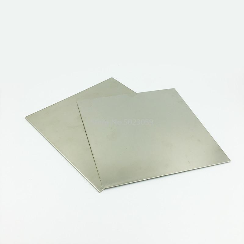 Purity Nickel Sheet Ni Foil Plate Electroplating Metal Industry 100x100x1.5mm