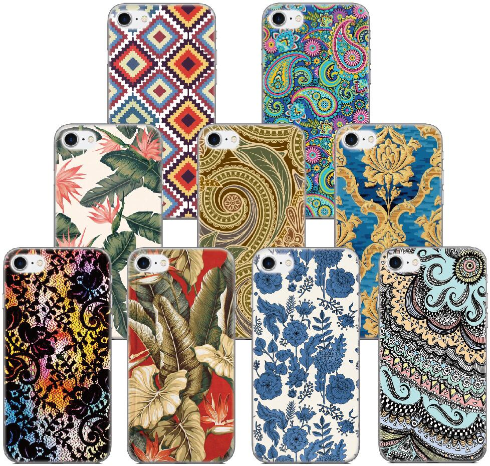 Vintage Retro Pattern Flower Shell Cover For iphone X 4 4S 5 5S SE 5C 6 6S 7 8 Plus For iPod Touch 5 6 Phone Case Coque Bumper