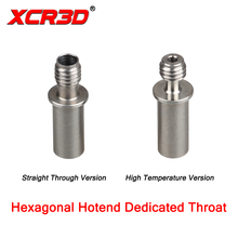 3D Printer Parts New Hexagonal V6 Hotend XCR-BP6 Dedicated Throat Straight Through Version / High Temperature Version 1.75mm