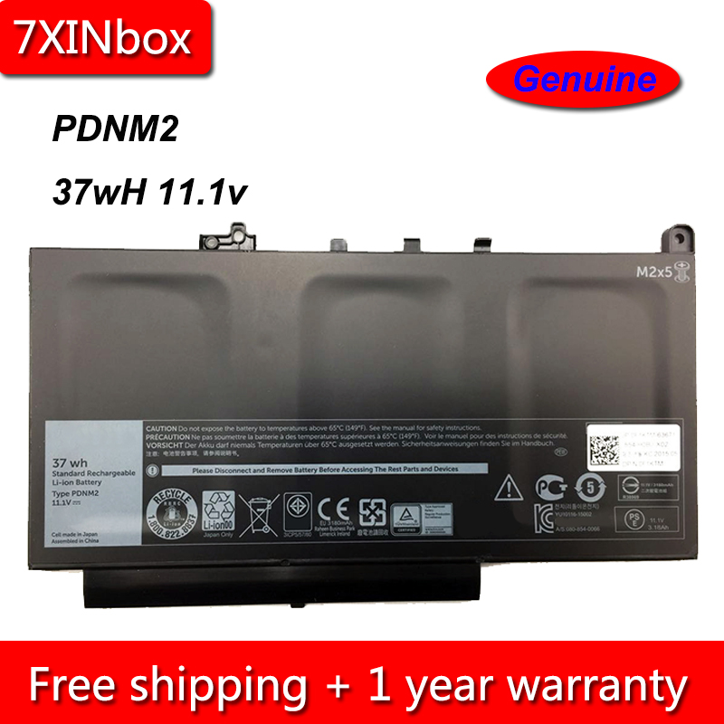 US $43 69 |7XINbox 37Wh 11 1V Genuine PDNM2 579TY 0F1KTM Laptop Battery For  Dell Latitude E7470 E7270 Series-in Laptop Batteries from Computer &