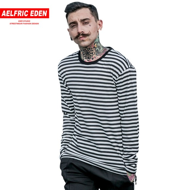 Aelfric Eden Korea Spring New striped T-shirt Casual Mens Cotton Striped  Long Sleeve T 28cff0a89