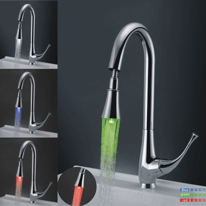 Free Shipping Kitchen Faucet Pull Down Spray Swivel Kitchen Sink ...