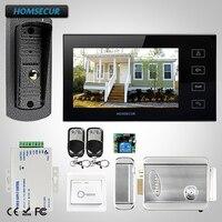 Homsur 7 проводной видео домофон безопасности с металлический корпус камера TC041 + TM704 B мониторы