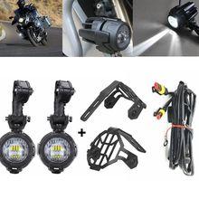 1 Set Universale Del Motociclo LED Ausiliario Luce di Nebbia Assemblie di Guida Lampada 40 W Del Faro Per BMW R1200GS/ADV/ f800GS/F700GS/F600GS