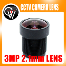 "3MP HD 2,1 мм cctv объектив ip-камера MTV плата IR M12 объектив F2.0 1/2. "" для HD CCTV камеры безопасности s"
