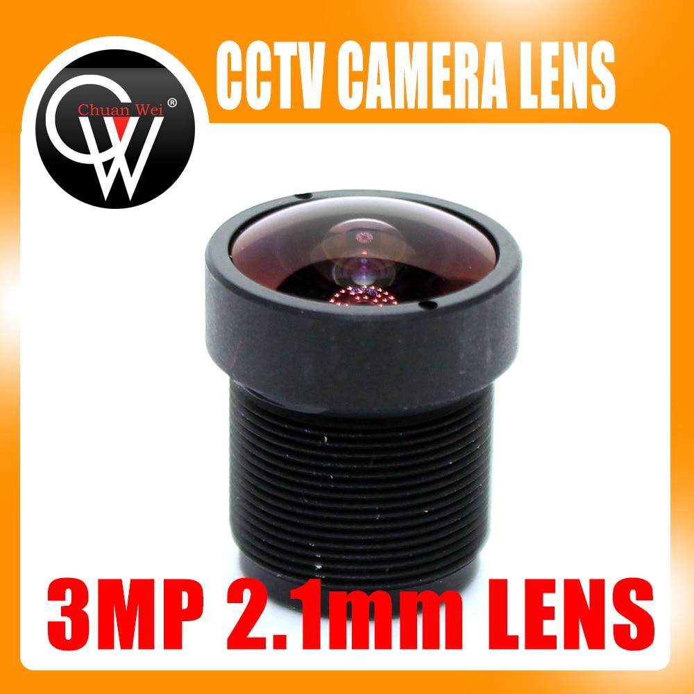 3MP HD 2.1mm CCTV Lens IP Camera Lens MTV Board IR M12 Lens F2.0 1/2.5