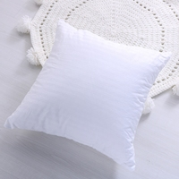 2018 New High Elasticity Full Fluffy Soft Pillow 100 Cotton Square Insert Stuffer Cushion For Bed