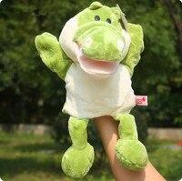 Super leuke 1 st 30 cm cartoon krokodil handpoppen pluche verhaal doll knuffel baby baby slapen game gift