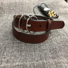 HUOBAO Women's Round Metal Buckle Belts Adjustable Waist Belts For Women Jeans Dress Casual Waistbands cinturones para mujer