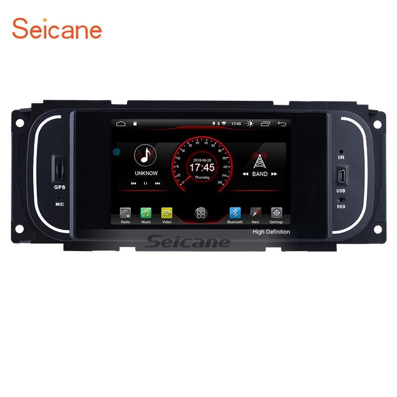 Seicane Android 8.1 5 Universal Multimedia Player Bluetooth GPS Radio for Chrysler 300m PT Cruiser JEEP Wrangler Dodge RAM 2500