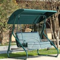 2 человек отдыха, садовые качели кресло гамак напольные покрытия скамейке патио мебель сиденье с навесом и Подушка Зеленый