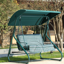 2 person leisure garden swing chair hammock outdoor cover bench patio furniture seat with canopy and cushion green
