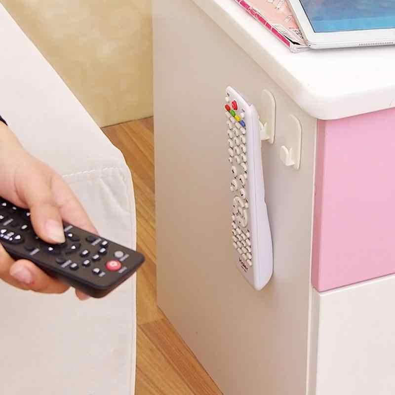 2 זוגות\סט שלט רחוק דביק וו סט ABS קיר רכוב מדפי טלוויזיה שלט רחוק חזק קולב אחסון בעל