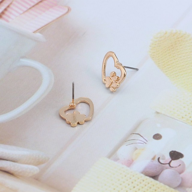 Dog Heart Paw Earrings  5