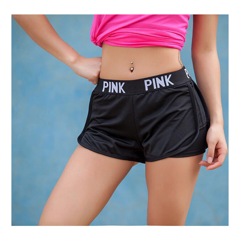 Summer Women Ladies Casual Shorts Cozy Multi Colors Breathable Elastic Waist Vs Secrect Pink Shorts Striepd Body Fitness Workout