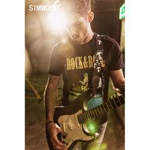 SIMWOOD 2020 lato nowy hip hop drukuj t shirt mężczyźni 100% bawełna moda streetwear vintage p top t shirt fajny tshirt 190312