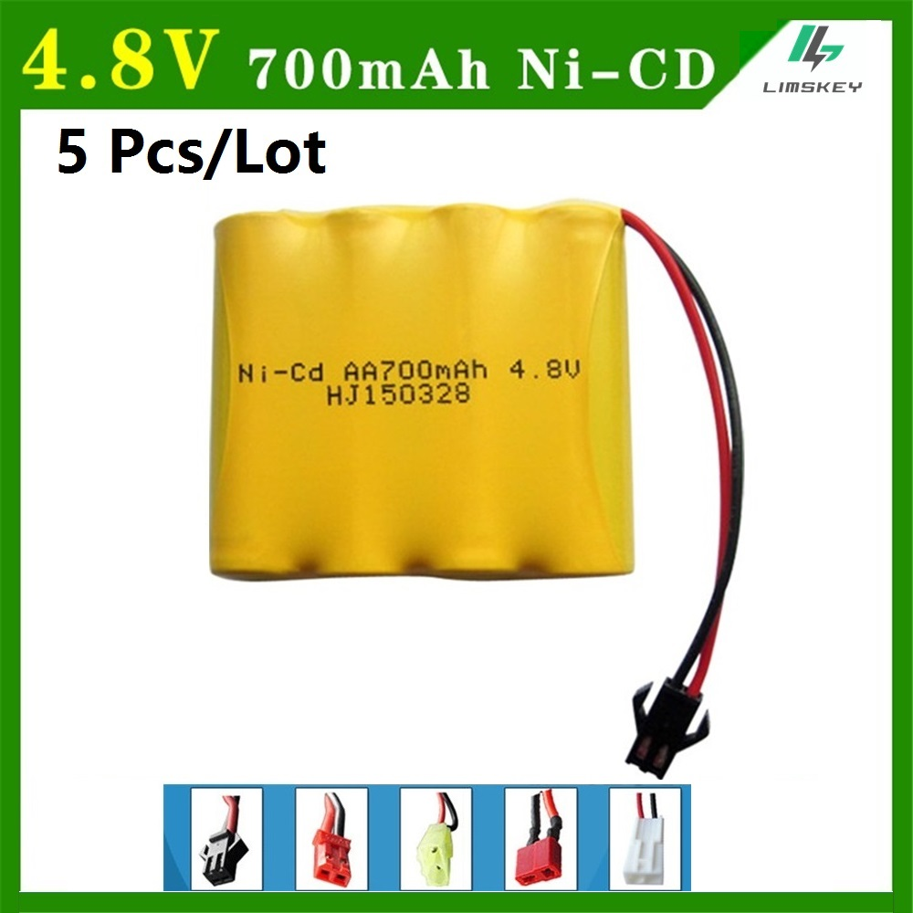 NI-CD AA 4.8 V 700mAh battery Remote Control Toys Electric toy security facilities electric toy battery group 5pcs free shipping