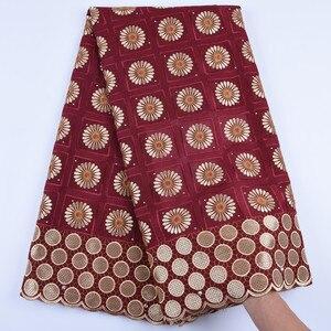 Image 3 - 2019 новейшая африканская кружевная ткань, швейцарская вуаль с камнями, швейцарская хлопковая кружевная ткань высокого качества, швейцарская кружевная ткань для свадьбы A1682
