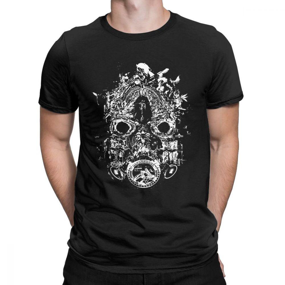 Borderlands 3 Mask Of Mayhem White Teaser Men T Shirts Pure Cotton Tops Vintage Short Sleeve Tee Shirt Birthday Present T-Shirts